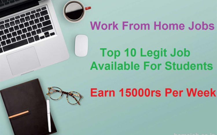 Work From Home Jobs | Top 10 Legit Job Available For Students