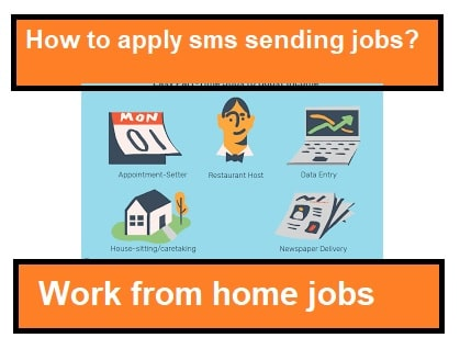 how to apply sms sending jobs from home?