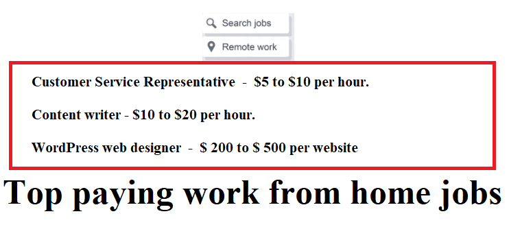 Top paying work from home jobs